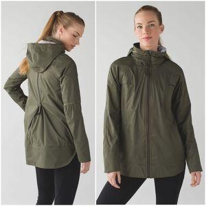 Rare Lululemon Fo Drizzle Jacket Fatigue Green